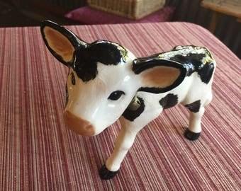 Cow Figurine,Cow Figure,Cow Decor,Country Decor,Cow Art,Ceramic Cow,Country Sculpture,Cow Sculpture,Cow Knick Knack,Country Knick Knack