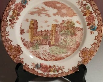 """Vintage Brown and Richie LTD, English Castles, Warwick Castle 6 3/8"""" bread & butter plate"""