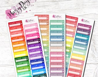 009 - Rainbow Coloured, Currently Reading, Functional Boxes, Planner Stickers TN, ECLP, Happy Planner etc