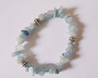 Wellness aquamarine Stretch Bracelet