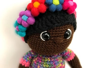 African American Crochet Doll