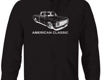 American Classic Chevy C10 Fleetside 1967-72 Pickup Truck Hooded Sweatshirt- U190