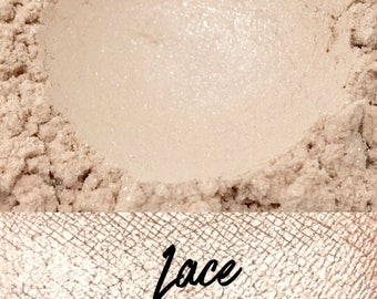 Lace, Ivory, 10 gram jar, Mineral Eyeshadow Pigment, Lace
