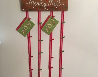 Merry Mail Christmas Card Holder, Merry Mail Sign, christmas card holder, christmas card holder, christmas card hanger, christmas card sign