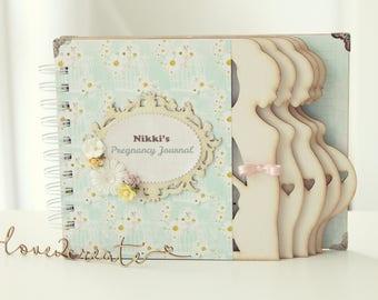 Personalized Pregnancy Journal Pregnancy album Week by week Pregnancy diary Mom to be journal Expecting mom diary keepsake gift