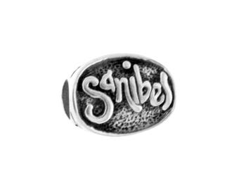 Sanibel Island Sunshine Large Hole Sterling Silver Bead - Compatible with ALL Popular Bracelet Brands - Made in the USA! - Item #20690