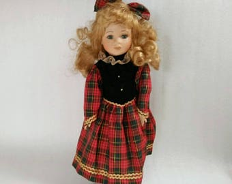 Vintage Porcelain Girl Doll made in China