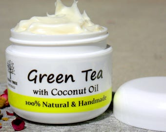 SPF30 or NoSPF- Green Tea Face Moisturizer- Anti Aging benfits and Brightening effects with Organic Licorice Root
