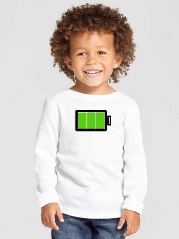 Boy/girl/baby t-shirt BATTERY HIGH