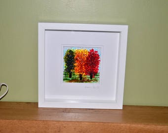 Handmade Fused Glass Art - Autumn Picture