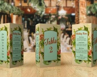 Script Table Number - Wedding Menu Card - Table Numbers - Table Plan - Wedding Menu Ideas - Table Number Ideas - Table Number Wedding
