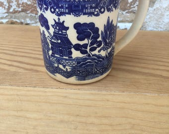 Vintage Blue Willow Mug