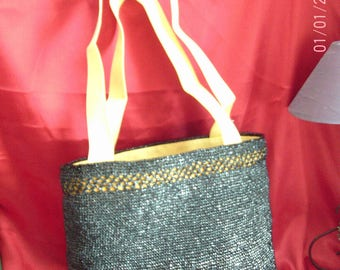 "BAG - Shopping bag, black, ""K7 Vidéo"" collection"