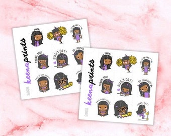 15% OFF S008 | Keenami A Sampler Stickers Perfect for Erin Condren Life Planner, Filofax, Plum Paper & other planner or scrapbooking