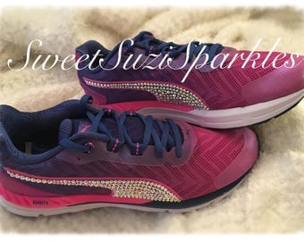 In STOCK!  Customized PUMA Speed 600 Ignite 2 Running Sneakers.  Women's size 9