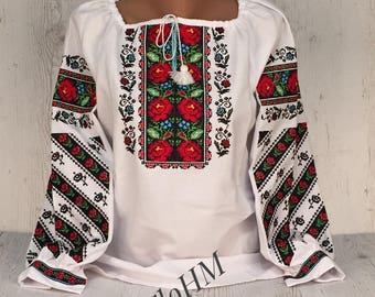 Ukrainian Embroidered Blouse Vyshyvanka
