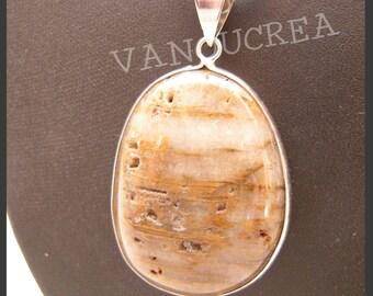 Brown Jasper pendant necklace