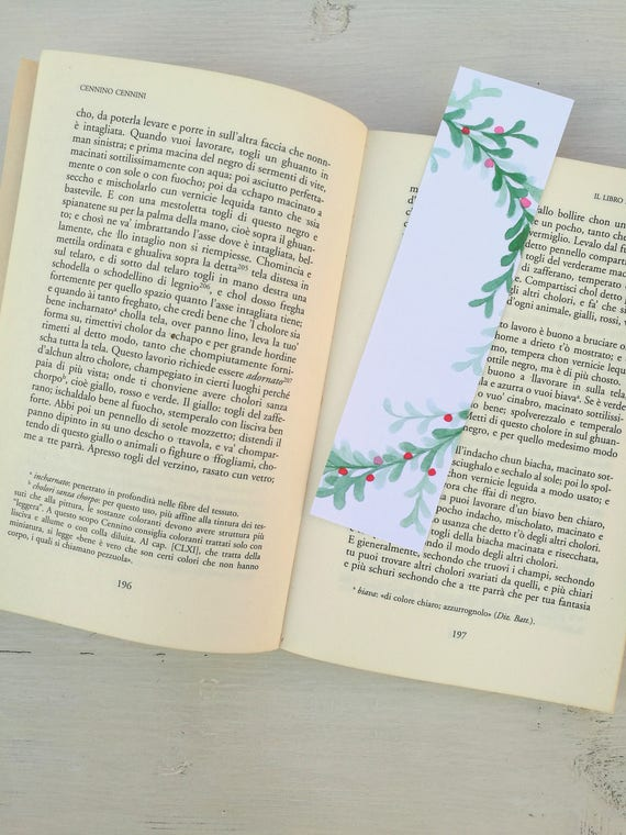 Bookmark Watercolor, handmade, paper bookmarks, custom bookmarks, wedding Favors-#4