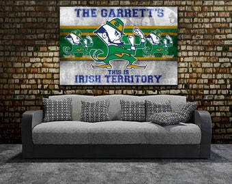 Notre Dame | Stretched Canvas Wall Art | Add Your Name | Customized | Retro | Fighting Irish