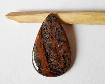 80% Sale Honey Dendritic Cabs Natural gemstone cabochon 54 Cts Pear shape 47x29x5 MM AC1984