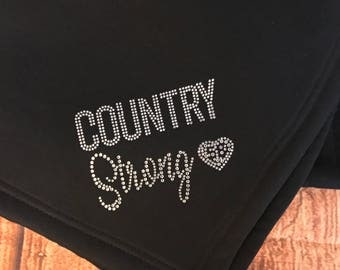 Route 91 Country Strong Sweatshirt Blanket