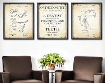 Orthodontic office wall decor