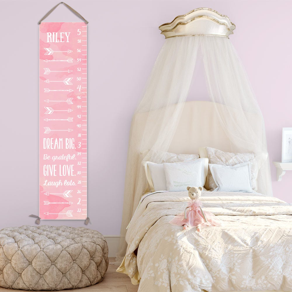 Arrow growth chart personalized canvas growth chart for girls jolieprints nvjuhfo Images
