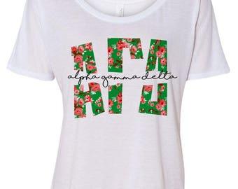 Alpha Gamma Delta Slouchy T-Shirt