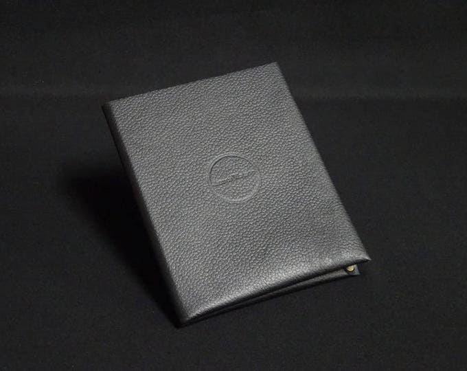 Passport Wallet - Black - Kangaroo leather with RFID Passport and Credit Card chip blocking - Handmade - James Watson