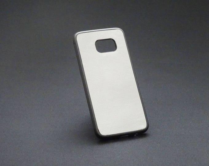 Samsung Galaxy S7 Edge - Jimmy Case - Genuine Kangaroo Leather Protective Flexible Phone Case - Silverfish (rainbow effect in sunlight)