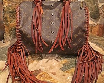 Fringed Authentic Louis Vuitton Speedy