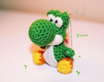 Yoshi Amigurumi keychain