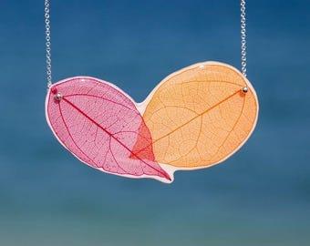 Violet Leaf Necklace