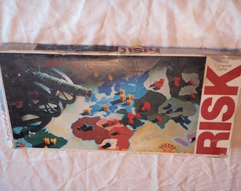 Vintage RISK Board Game 1975 by Parkers Brothers World Conquest Game