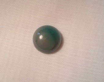 Natural 12 mm agate round Cabochon. -820 20