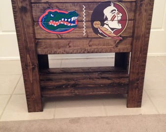 House divided stained cooler stand