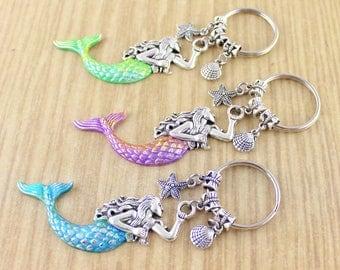 By ©SRA//Mermaid Keychain//Mermaid Key Chain//Mermaid Key Ring//Fantasy Gifts//Mermaid Lovers Gift/Cute Keychain/Trending Now