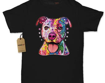 American Pitbull Graffiti Womens T-shirt