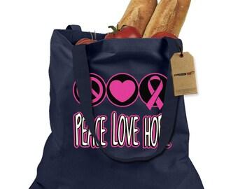 Peace Love Hope Shopping Tote Bag