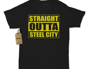 Straight Outta Steel City Football Womens T-shirt