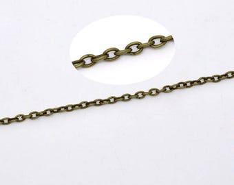 chain link 3X2mm bronze 3 meters