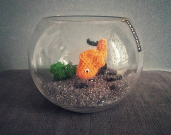 Feng Shui Crocheted Goldfish