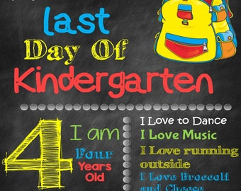 Last Day of School Sign-Boy/Girl