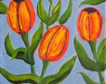 "Titled ""Red Tulips"" (tulips, red, flowers, floral, colorful)"
