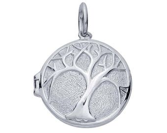 Sterling Silver, Locket Pendant, Large Locket, Tree of Life Pendant Locket, Silver Locket, Tree Locket, Family Tree Pendant, Tree Jewelry