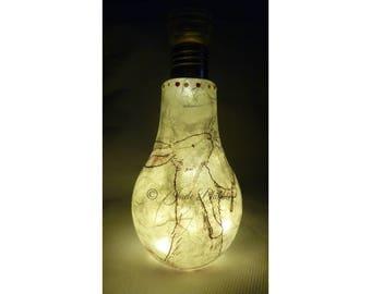 bunny night light, mood lighting, LED light, bunny Jar,light up jars, bunny bulb,bunny ornament,rabbit present,bunny lover, bunny lamp