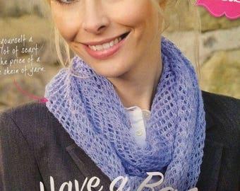 Ladies Easy Knit Scarf Knitting Pattern