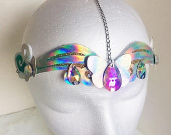 Butterfly queen holographic fairy circlet