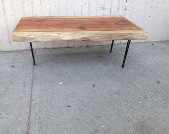 California Cedar Live Natural Edge  earthmadedesigns Coffee Table