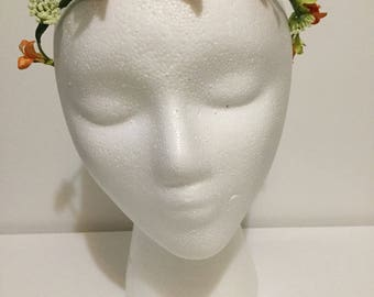 Simple Orange flower crown